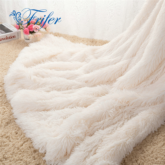 Fuzzy Sofa Multi Pillow Back Slipcovers Super Soft Long Shaggy Bedspread Fur Faux Elegant Cozy With Fluffy Sherpa Throw Blanket