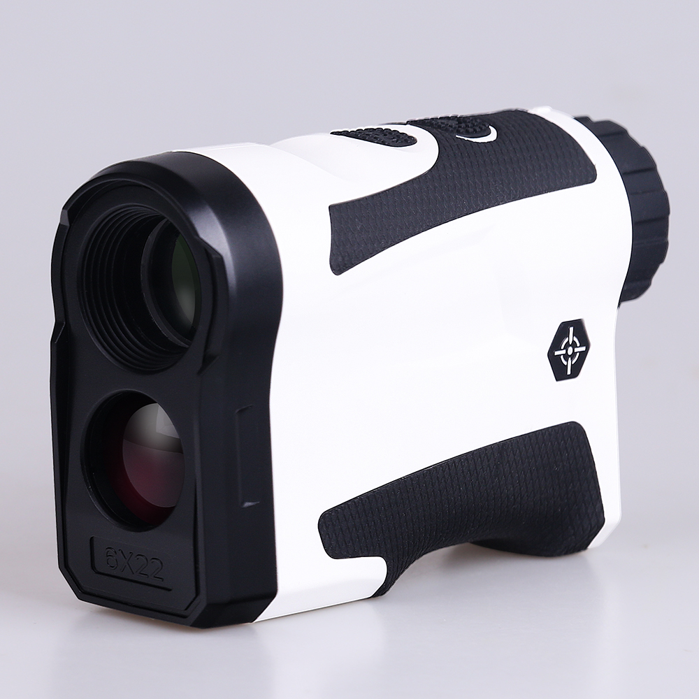 BIJIA 6x22 Professional Golf Laser Rangefinder 600m Hunting Range Finder Monocular With Vibrate Distance Correction White
