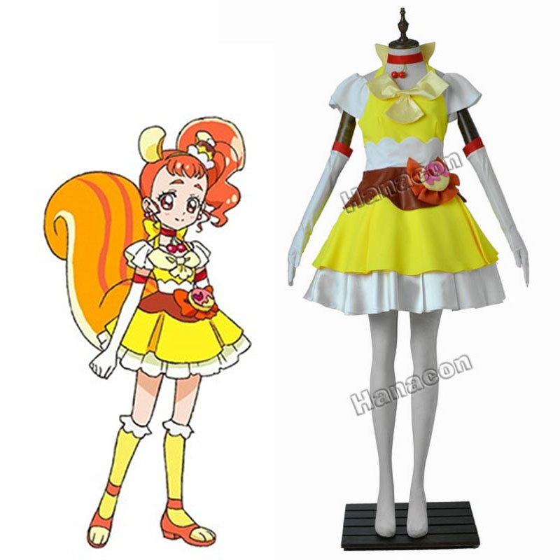 buy kirakira pretty cure a la mode cosplay costume cure custard arisugawa. Black Bedroom Furniture Sets. Home Design Ideas