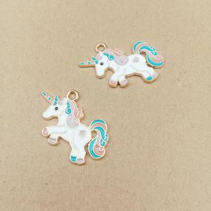 Unicorn Charm Pendant Earring Bracelet Crafting Jewelry-Making Enamel Fashion for And