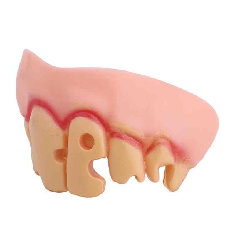 Protez Diş Balo Cadılar Bayramı Partisi Cadı Elbise Komik Buck dişli Protez Protez Sahne Zombi Şeytan Fangs Diş