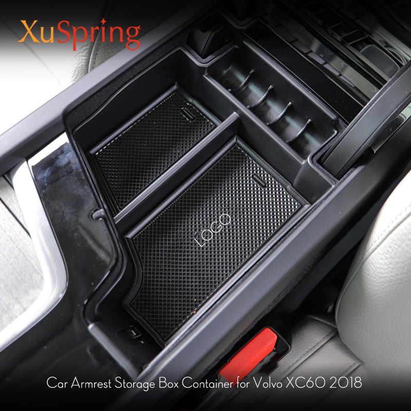 Armrest Storage Box Suitable for Volvo 2017-2019 S90//2015-2019 Xc90 Modified Door Handle Storage Box 2019 Volvo Xc60 Armrest Box V90cc S60 V60 Plastic Color : Black