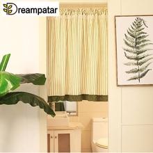 Dreampatar Сельский Средиземноморский полосатый лист лотоса вертикальный короткий занавес перегородка для гостинной тени ML211B