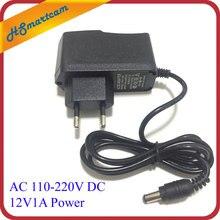 New AC 110-240V DC 12V 1A EU US Plug Power Charger Adapter For CCTV Camera 48 LED IR Lights DC 12V1A power