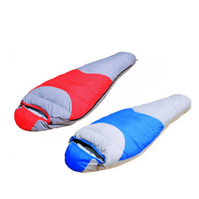 High Quality Thermal Duck Down Sleeping Bag Winter Mummy Sleeping Bag for Outdoor Camping Red Blue 2.2Kg (190+30)x80x50cm цена