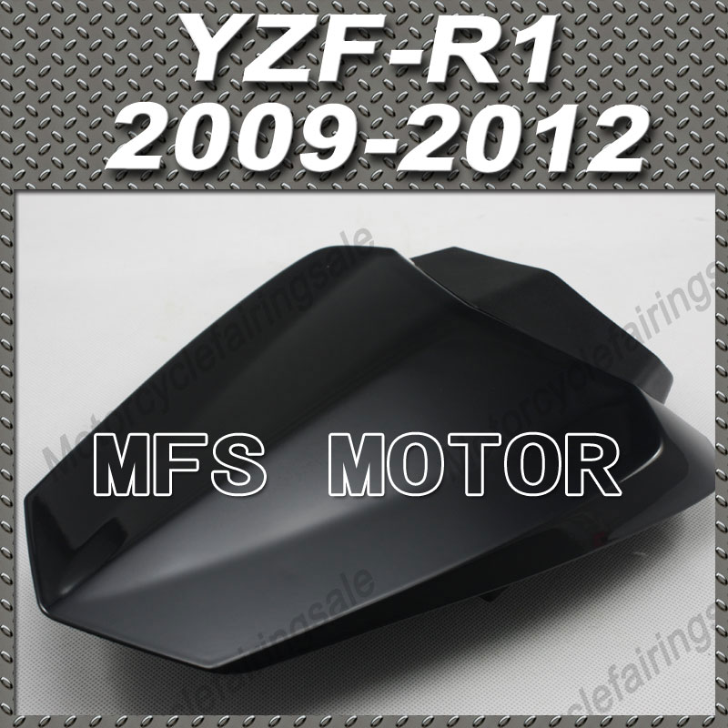 For YZF-R1 Motorcycle Rear Pillion All Black Injection ABS Seat Cowl Cover For Yamaha YZF-R1 2009-2012 10 11