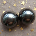 wholesale 2PCS 24mm Natural Power Magnetic Hematite Magnetite Ball Sphere Polished Healing Specimens Free Shipping