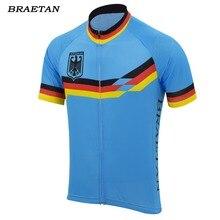 46e024e69250f Alemanha camisa de ciclismo roxo amarelo roupas de ciclismo desgaste verão  corrida roupas bicicleta ciclismo roupas