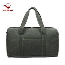Wobag Men Travel Bags Hand Luggage Casual Travel Duffle Bag Women Big Sports Gym Bag Canvas Weekend Ocernight Bag