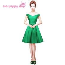 Торжественные фиолетовые халаты de soiree вечерние Формочки скромное зеленое вечернее платье Короткое бальное платье H2644