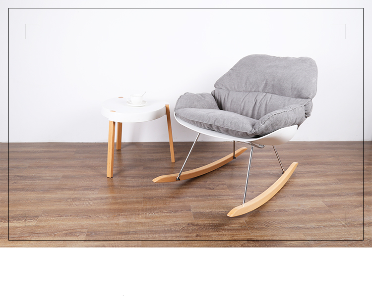 Lounge Stoel Woonkamer : Minimalistische moderne ontwerp schommelstoel woonkamer zachte
