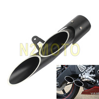 For Yamaha R6 Motorcycles Exhaust Muffler Pipe 45mm Black Motorbike Silencer 2006 UP