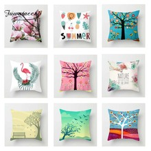 Fuwatacchi Natural Scenic Cushion Cover Flamingo   Soft Throw Pillow Cover Decorative Sofa Pillow Case Pillowcase