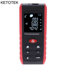 Big discount Handheld Laser Rangefinder Digital Laser Distance Meter Area Volume Tester Level Practractor Angle Indication 40m 60m 80m 100m