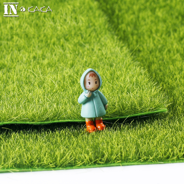 Realistic Simulation Lawn Green Artificial Grass Mat Simulation Moss For Home Wedding Decoration micro Garden DIY accessories