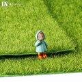 Simulación realista simulación musgo verde césped alfombra de césped artificial para el hogar decoración de la boda micro jardín diy accesorios
