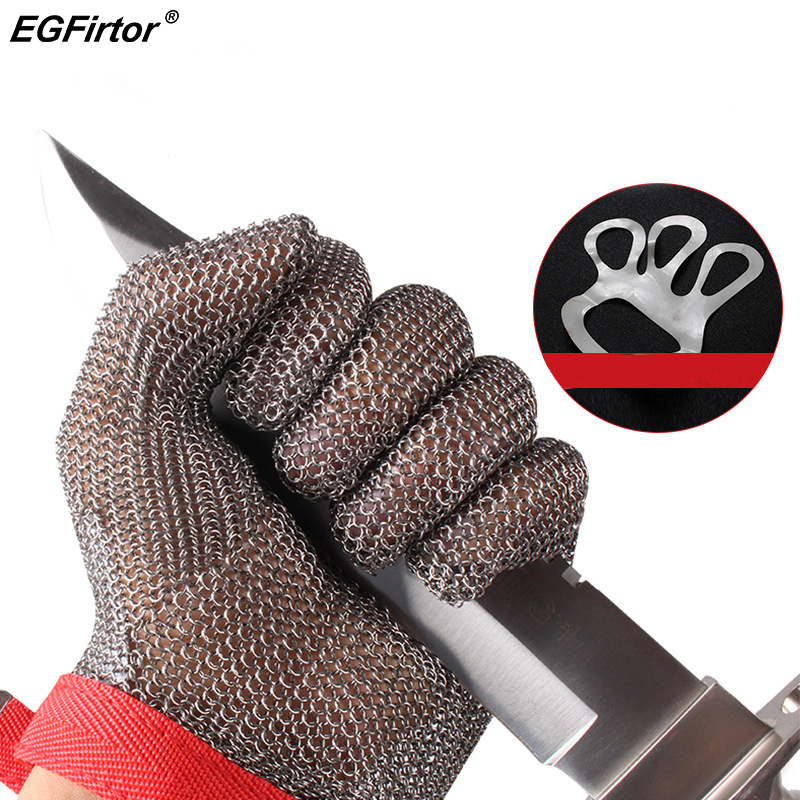 Edelstahl Draht Sicherheit Handschuhe Sicherheit Anti-cut Stichsichere Arbeit Handschuhe Cut Metall Mesh Butcher Anti-schneiden arbeit Handschuhe
