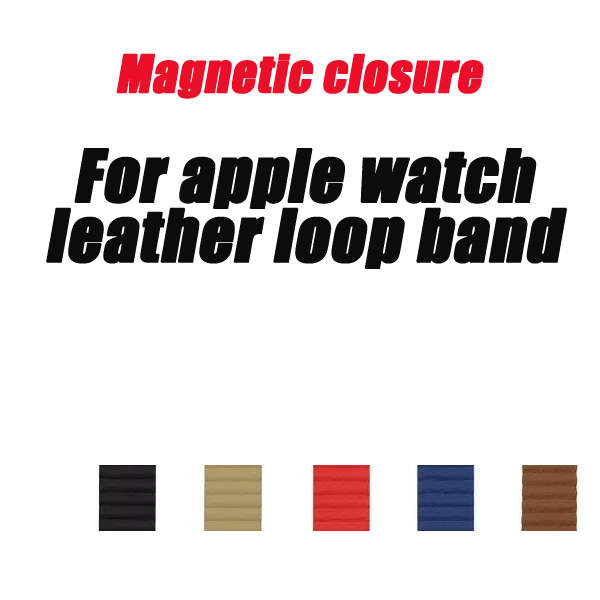 Genuine leather loop for apple watch band straps 42mm 44mm 38mm 40mm bracelet Adjustable Magnetic Closure Loop series 4/3/2/1 leather loop band for apple watch series 3 2 adjustable magnetic closure loop strap watchband for apple watch 42 38 40 44mm ba