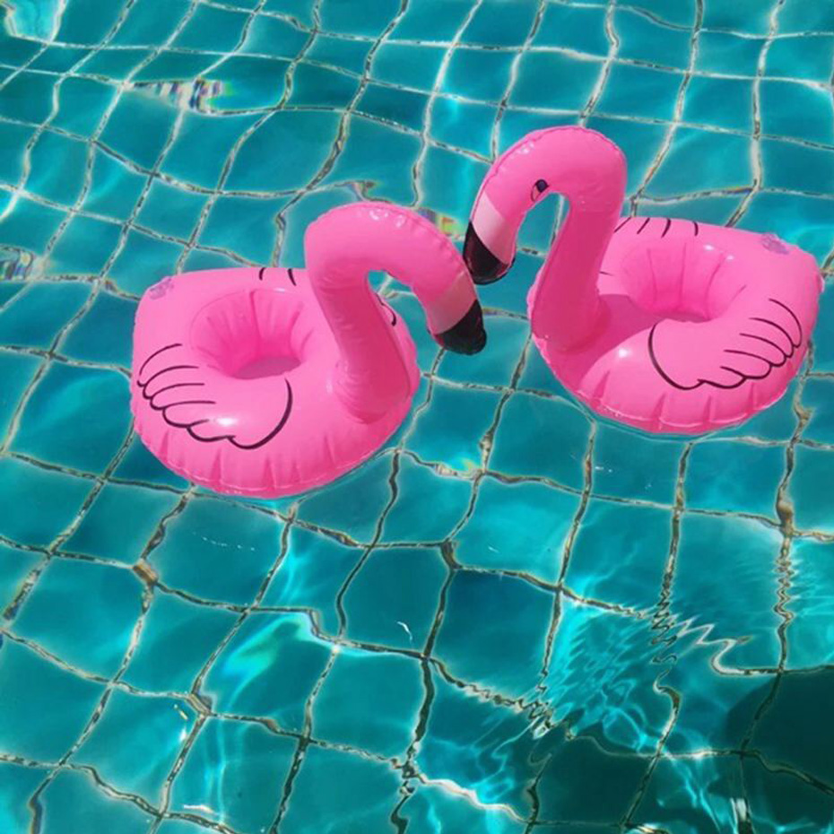 Pool Floating Mini Pink Inflatable Flamingo Unicorn Donut Water Drink Cup Beach Mobile phone Cup Care Floating Row Swimming Ring