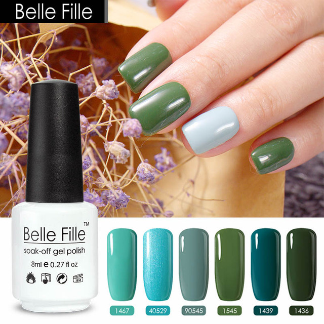 Belle Fille 8ml Green Nail Polish Lacquer Hybrid Gel Grass Green ...
