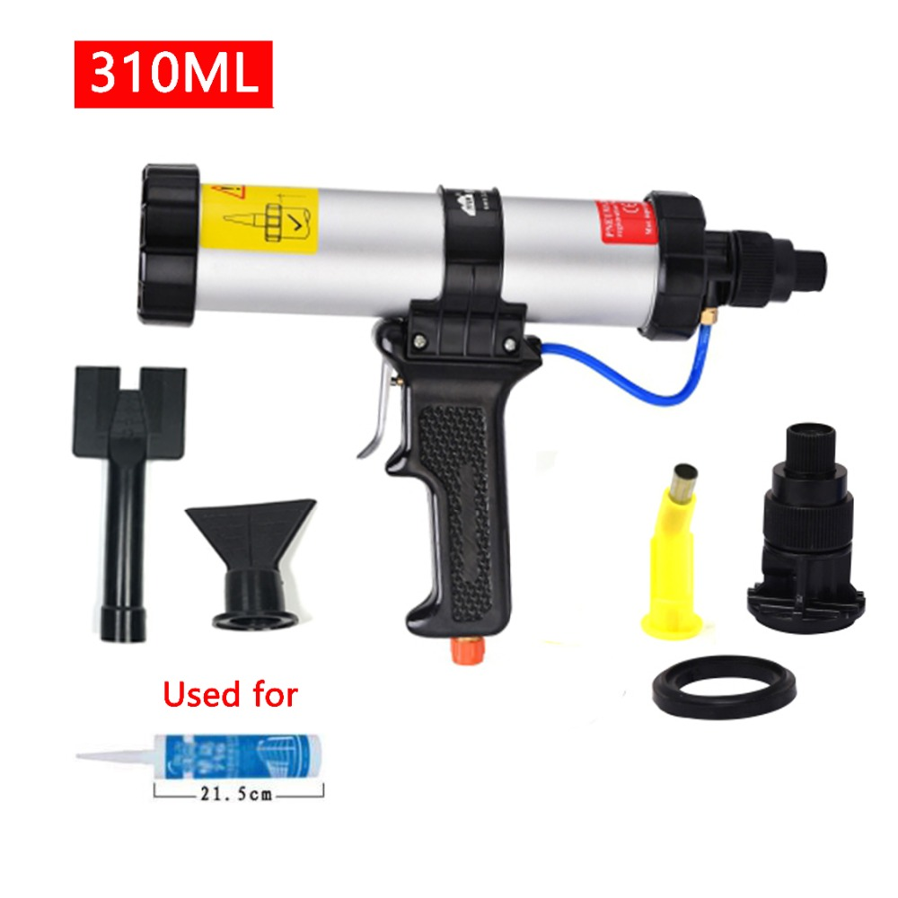 Cartridge Pneumatic Sealant Gun 310ml Air Cartridge Gun Air Caulking Gun for Auto Cars Use with the Metal Plate Plastic Nozzle цена