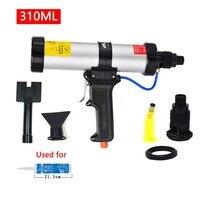 Cartridge Pneumatic Sealant Gun 310ml Air Cartridge Gun Air Caulking Gun for Auto Cars Use with the Metal Plate Plastic Nozzle