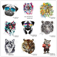 Colorful Animal Patch Iron-on Transfers Diy Decoration Applique A-Level Washable Easy Print By Household Irons Patches E