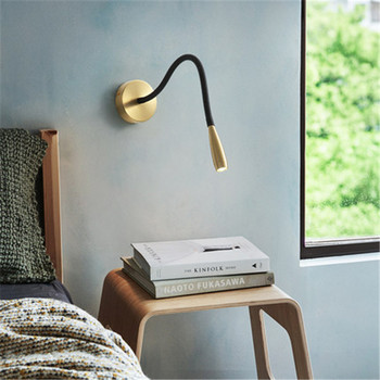 Nordic LED Wall Lamp Bedroom Bedside Lights Simple Living Room Aisle Lights Home Creative Luxury Study Room Lamp