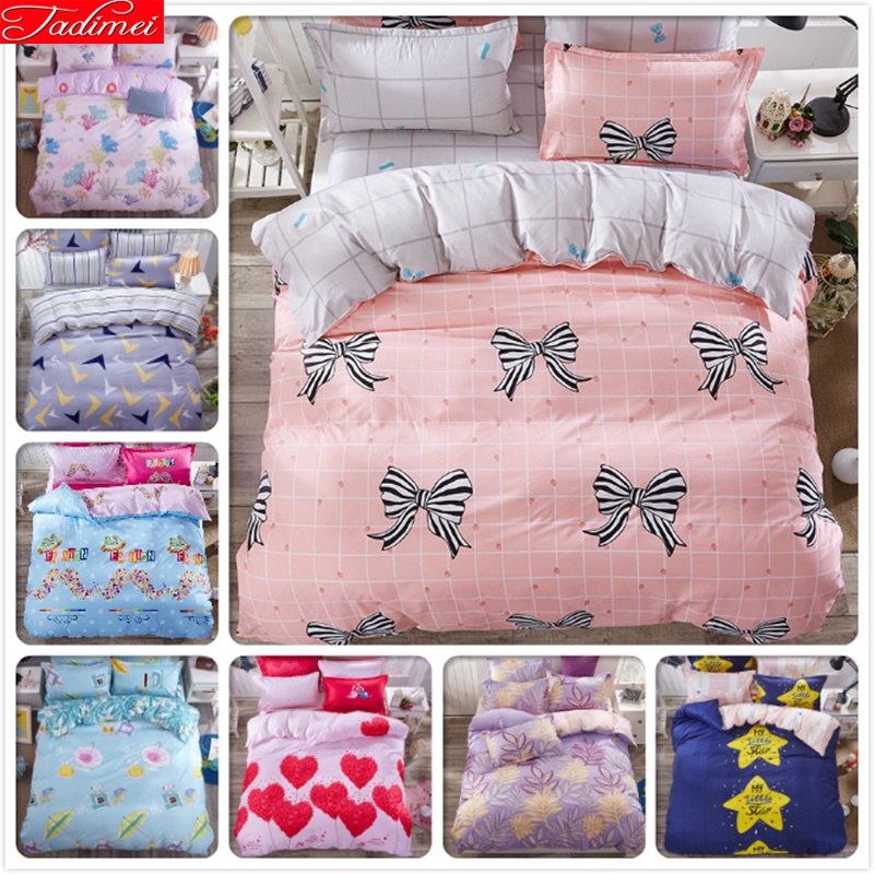 Pink Plaid Bed Linen 3/4 pcs Bedding Set Big Size Full King Queen Twin Double Single Duvet Cover 1.5m 1.8m 2m 2.2m Bedsheet KidsPink Plaid Bed Linen 3/4 pcs Bedding Set Big Size Full King Queen Twin Double Single Duvet Cover 1.5m 1.8m 2m 2.2m Bedsheet Kids