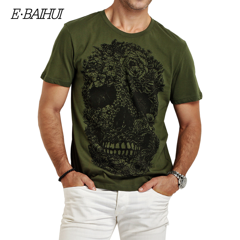 E BAIHUI Brand mens t shirt Swag Cotton Clothing T shirts Men 3D T Shirt Fitness