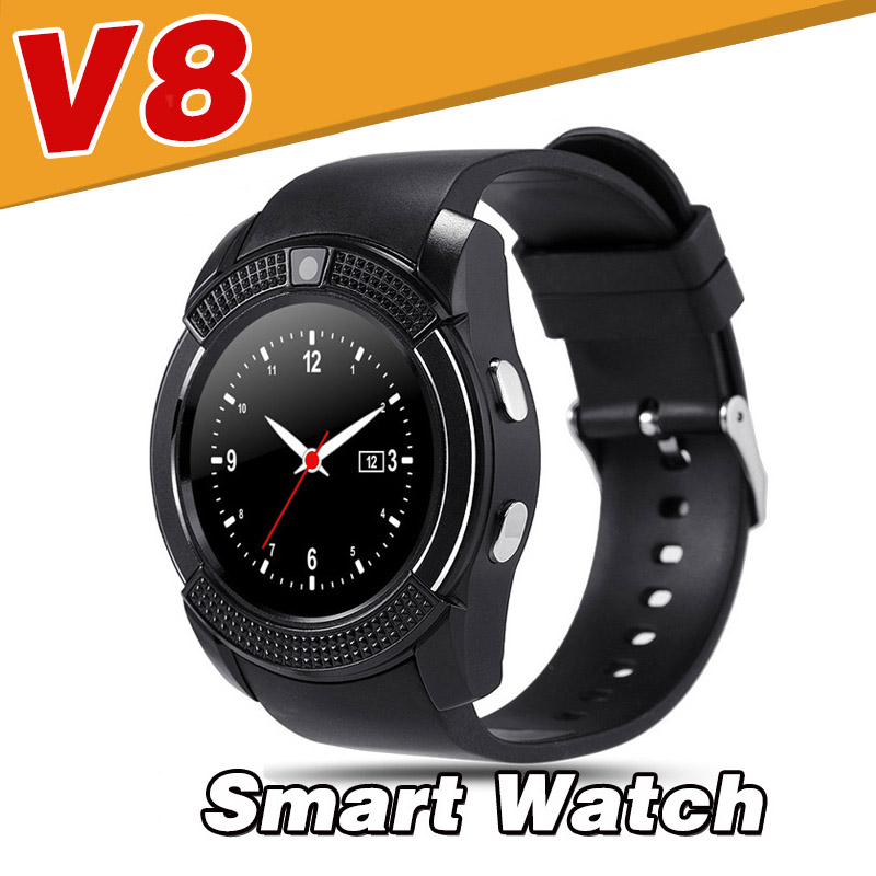 v8 bluetooth smart watch for android ios mobile phone