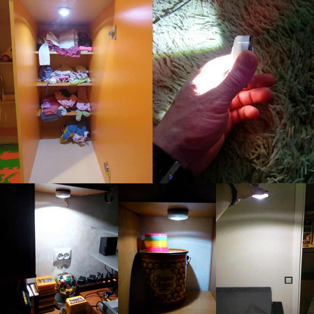 EeeToo светодиодный свет COB кабинет свет Беспроводной Стикеры шкаф лампы Батарея питание лестницы освещение ночник для Кухня Спальня
