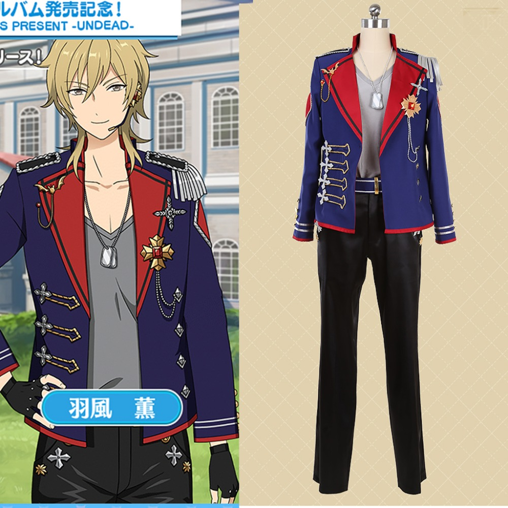 Cosplaydiy Custom Made Ensemble Stars UNDEAD Album Series Present Cosplay Costume ES hakaze kaoru Stage Costume Any Size L320