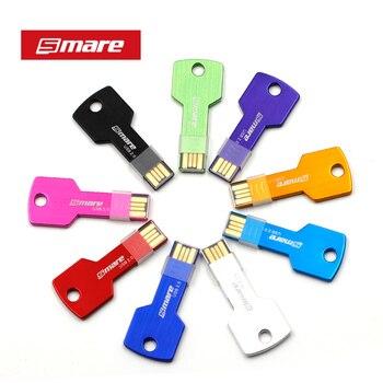 SMARE U6 Key USB Flash Drive 128GB/64GB/32GB/16GB/8GB/4GB Pen Drive Pendrive USB 2.0 Flash Drive Memory stick Custom LOGO