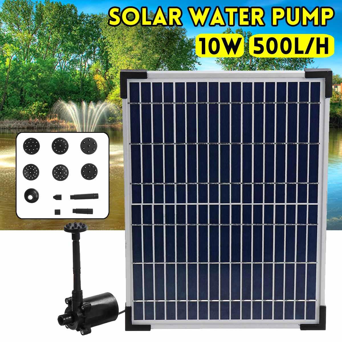 Ev ve Bahçe'ten Çeşmeler ve Kuş Banyoları'de 17 V 500L/H Güneş Çeşme Su Pompası Güneş Enerjisi Bahçe Çeşme Şelale Kuş Dolma Powered Bahçe Dekorasyon Açık dekor'da  Grup 1
