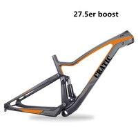 Cratic пользовательские живописи BB92 Boost углерода горные велосипеды Рамки 27.5ER 650B T700 подвеска углерода MTB велосипеда Рамки
