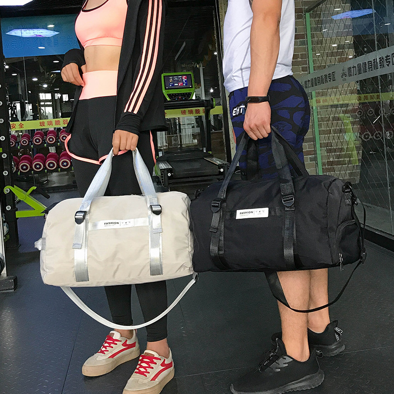 Waterproof Fashion Pink Travel Sport Gym Bag PU Leather Fitness Training Dry Wet Shoe Pouch Yoga Handbag Outdoor Big Capacity