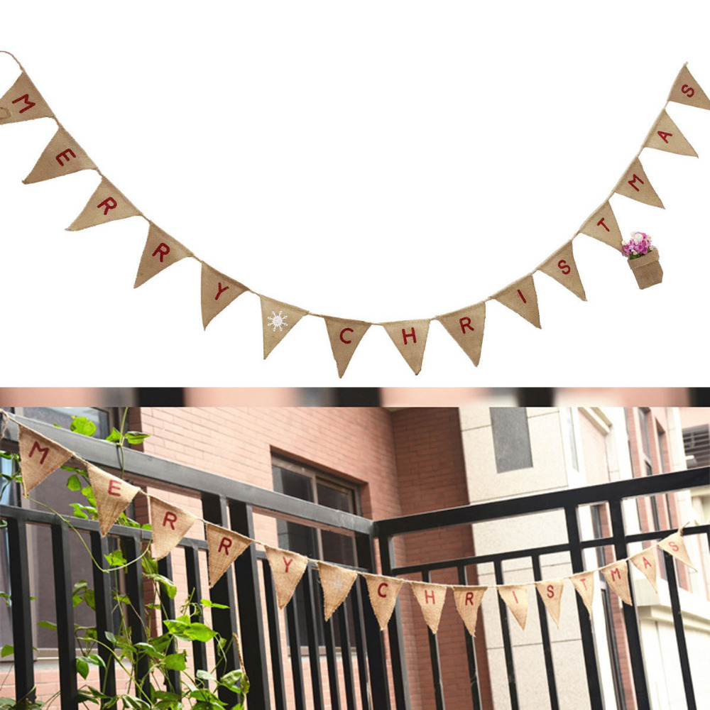 9ac72737735d ①2.8 M Vintage Buon Natale Fabric15 Dell assia Bandiere Bunting ...