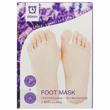 2 Pairs Lavender Foot Mask Exfoliating Moisturizing Peel Off Foot Mask Callus Rough Heels Foot Peel Mask