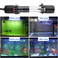 AC 110 240V 6W Fish Tank UV Germicidal Light IP68 Quartz Tube Aquarium Sterilizing Lamp For