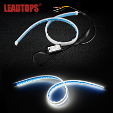 LEADTOPS 2pcs Flexible DRL And Turn Signal Light Car LED Daytime Running modification Lamps Strip Waterproof CJ