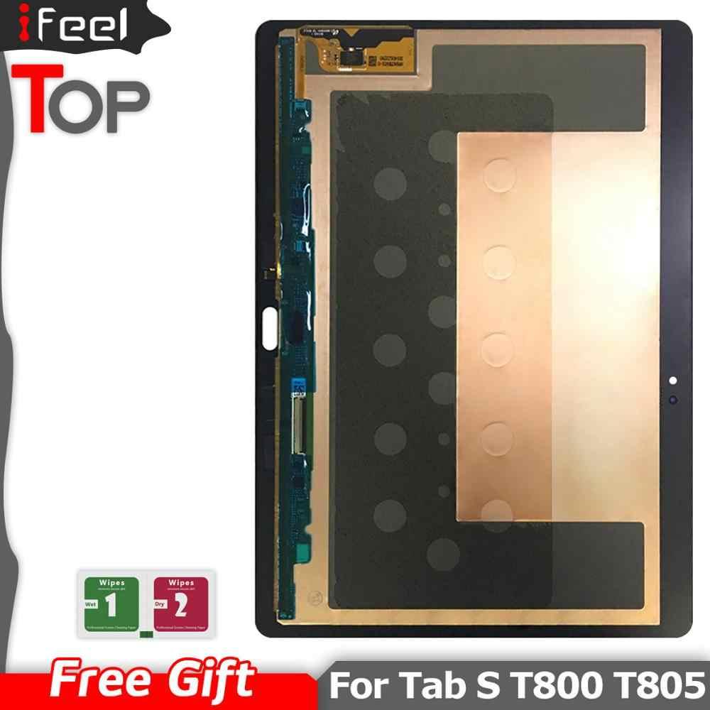 """10.5 """"Amoled T800 wyświetlacz dla Samsung Galaxy Tab S T800 T805 SM-T800 SM-T805 wyświetlacz LCD + ekran dotykowy Digitizer montażu"""