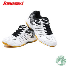 Genuine 2019 Kawasaki Zhuifeng Series K-063 K-075 Badminton Shoes For Men And Women Wear-resisting Rubber Breathability Sneakers(China)