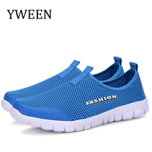 YWEEN Men Shoes Summer Sneakers Breathable Fashion Mesh Casual Shoes Couple Lovers Men&Women Mesh Shoes Big Plus Size Shoes men shoes 2017 lovers summer fashion breathable men casual shoes lace up high quality flat mesh shoes plus size 35 44