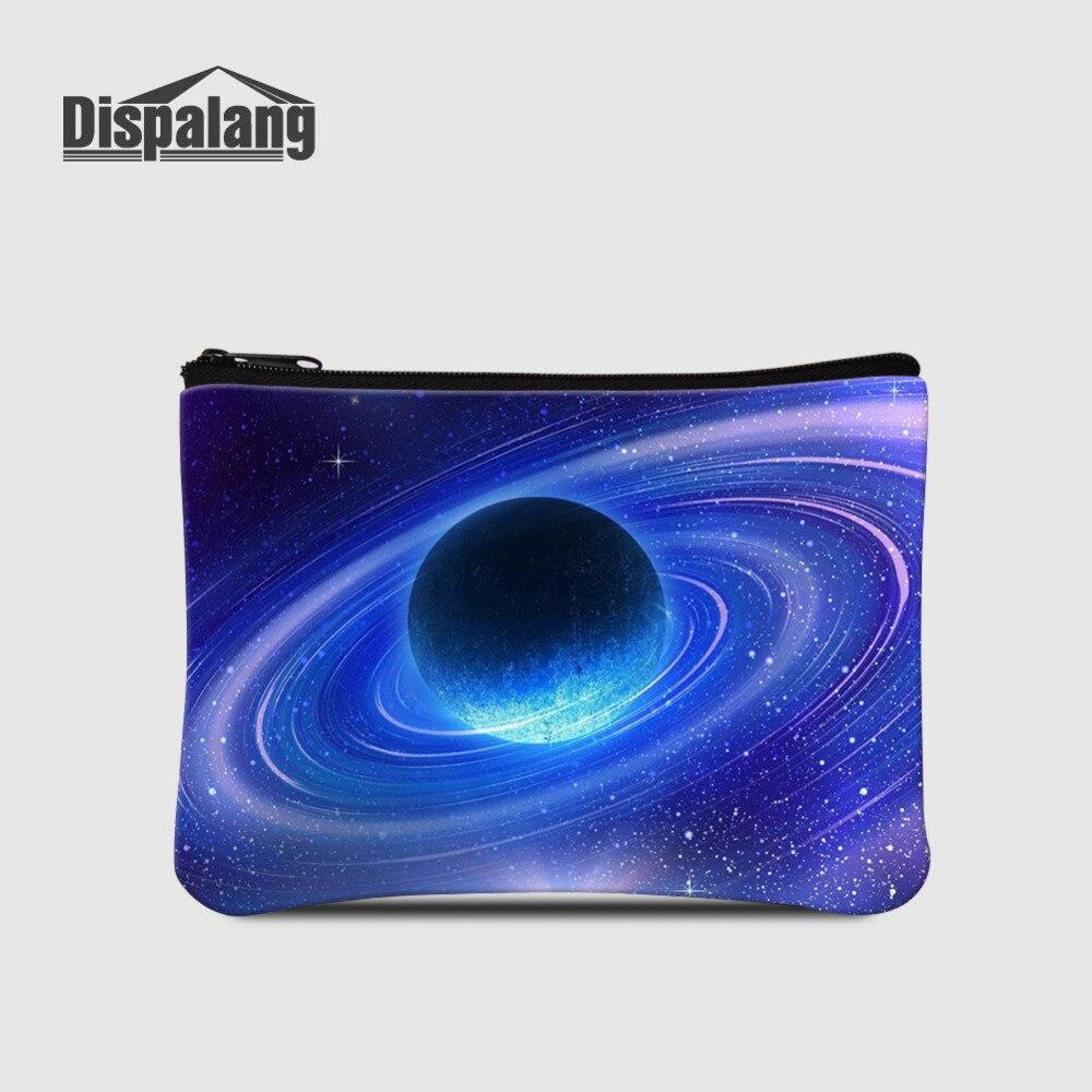 Dispalang Small Women Wallets Universe Space Galaxy Stars Kids Coin Purse Mini Change Purses Card Bags Cute Coin Wallets