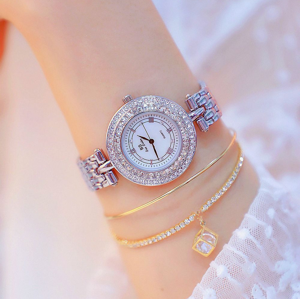 Womens Watches Ladys Full Rhinestone Watch Female Stainless Steel Band Quartz Wristwatch Montre Femme Relogio Feminino ClocksWomens Watches Ladys Full Rhinestone Watch Female Stainless Steel Band Quartz Wristwatch Montre Femme Relogio Feminino Clocks