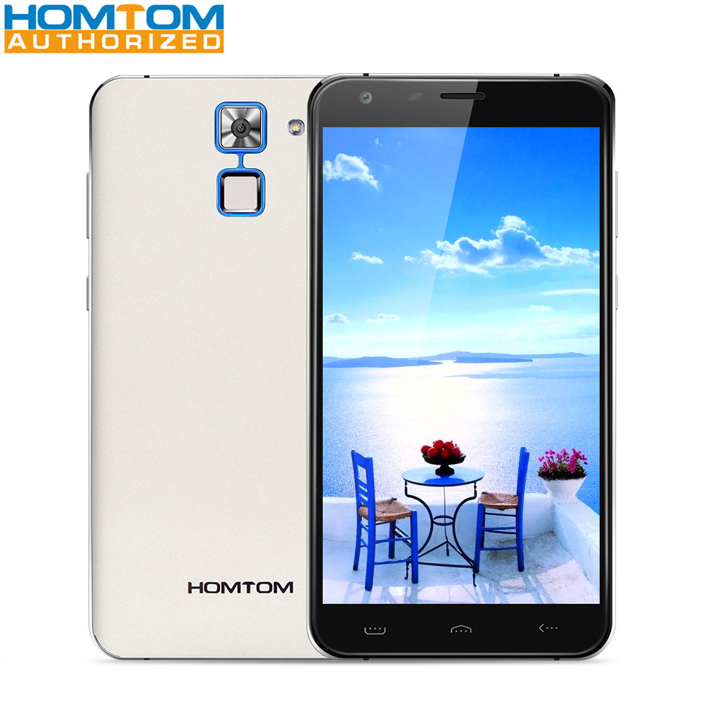 HOMTOM HT30 3G Telephone 5.5 inch Android 6.0 MTK6580 Quad Core 1GB RAM 8GB ROM 2MP 5MP Camera Fingerprint Scanner 3000mAh Phone