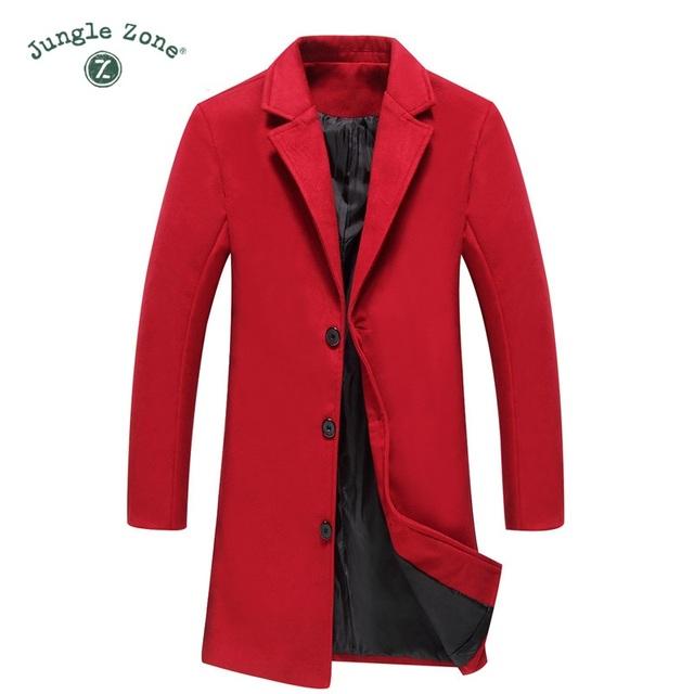 New Men Wool Blends Suit Design Wool Coat Men Casual Trench Coat Design Slim Fit Office Suit Jackets Coat Drop Shipping
