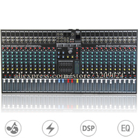 24 Channel Mixer with USB MP3 Reverb 16 DSP Reverb Effect Stage Mixer Large Reverb Microphone Mixer System