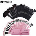 Profesional Del Bolso De Maquillaje de Belleza Rosa/Negro Cosméticos 32 unids Make Up Brushes Set Sombras Powder Foundation Brush Kits